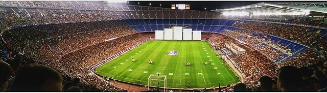 camp nou stadium view