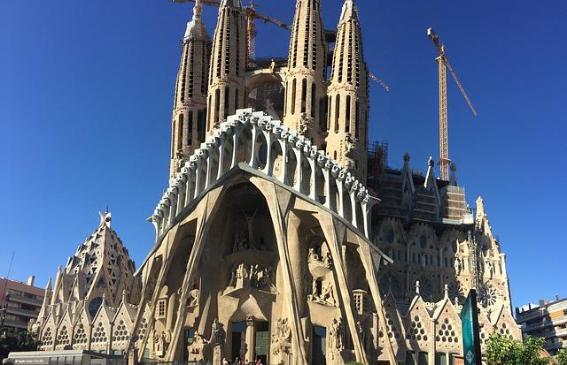 werken van Gaudi sagrada familia