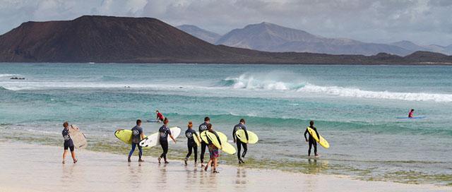 Spaans leren en surfen